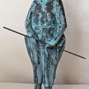 Narr 2012, Patinerad terracotta 41x15x10 cm.