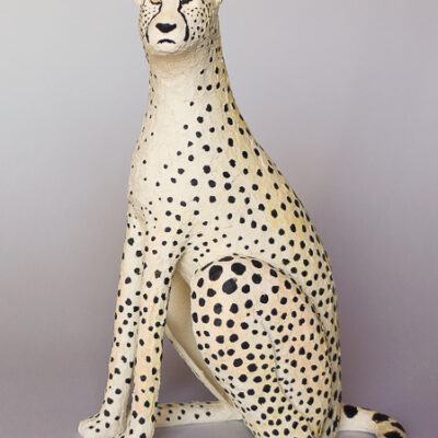Gepard 2017. Stengods 25x18x10 cm.